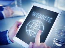 Website Internet Technology Globe Concept royalty free stock image
