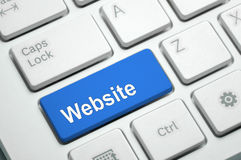 Website - internetbegrepp Royaltyfri Foto