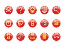 Website- & internetsymboler royaltyfria bilder