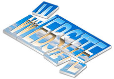 Website Jigsaw. Website text construction on clouds jigsaw background Stock Image