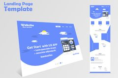 Website landing page template design for promotion. Website landing page template design modern and clean for promotion Royalty Free Stock Image