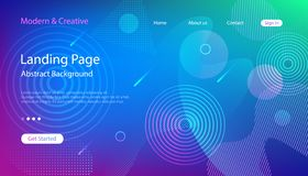 Website Landing Page Template. Modern Abstract Background Design vector illustration