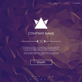 Website landing page template with set of line Stock Image