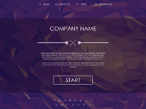 Website landing page template with set of line Royalty Free Stock Photo