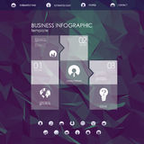 Website landing page template with set of round Royalty Free Stock Photography