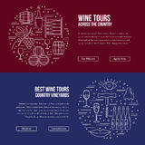 Website landing page template for wine industry Stock Photography