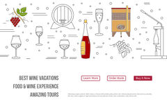 Website landing page template for wine industry Royalty Free Stock Images