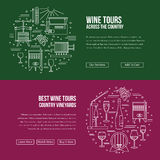 Website landing page template for wine industry Royalty Free Stock Photography