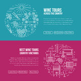 Website landing page template for wine industry vector illustration