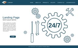 Website Landing Page Vector Template Royalty Free Stock Images