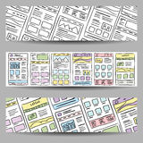 Website Layout banner Royalty Free Stock Photos