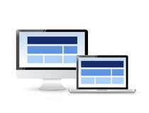 Website layout on computer screen. illustration Royalty Free Stock Images