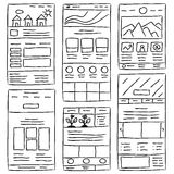 Website Layout Doodles Royalty Free Stock Images