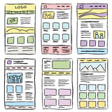 Website Layout Doodles Royalty Free Stock Image