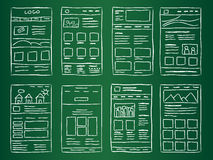 Website Layout Doodles Royalty Free Stock Photography