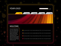 Website Layout Template Stock Images