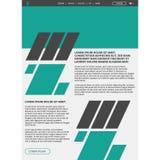 Website layout template Stock Photos