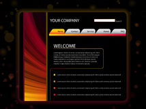 Website Layout Template in Red Royalty Free Stock Photo