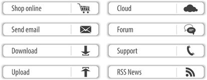 Website light gray elements and modules Stock Image