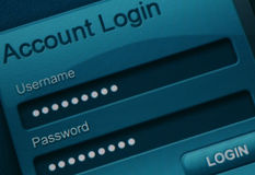 Website login Stock Photography