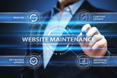 Website maintenance Business Internet Network Technology Concept.  stock images