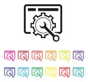Website maintenance icon set Stock Photography