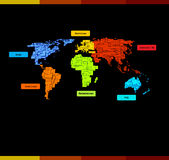 Website med världsöversikten Royaltyfri Fotografi
