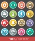 Website and Media buttons,. Colorful Royalty Free Stock Photography