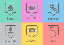 Website menu icons Stock Images