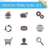Website menu icons Royalty Free Stock Photo