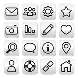 Website menu, internet navigation stroke buttons Royalty Free Stock Photo