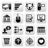 Website menu navigation black  buttons set. Internet, business buttons set isolated on white Stock Photography