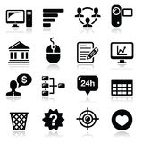 Website menu navigation black  icons set Royalty Free Stock Photo