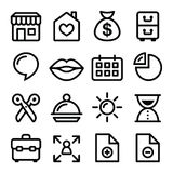 Website menu navigation line icons - online shop, web page Royalty Free Stock Photography