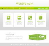 Website Menu template Royalty Free Stock Photo