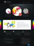 Website met infographics Stock Fotografie
