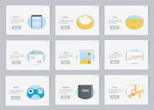 Website and mobile Flowcharts with icons in flat style Royalty Free Stock Photos