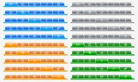 Website navigation. Tabs set; Website navigation; vector illustration Royalty Free Stock Photos
