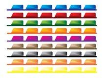Website navigation. Set of colorful website navigation bars Stock Image