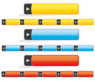Website navigation bars & buttons Royalty Free Stock Images