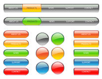 Website navigation buttons. With color options Royalty Free Stock Photography
