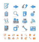 Website navigation and computer icons Royalty Free Stock Photo