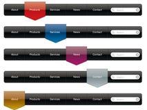 Website Navigation menu vector illustration
