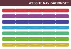 Website navigation set - Vector Royalty Free Stock Photography