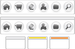 Website navigation template Stock Photos