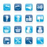 Website- och internetsymboler Fotografering för Bildbyråer