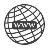 Website- oder Internet-Ikone lizenzfreie abbildung