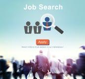 Website online-Conce för personalresurser för jobbrekryteringanställning Arkivfoton