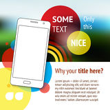 Website or page design with mobile phone. Advertisement Stock Images