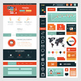 Website page template. Web design Stock Image